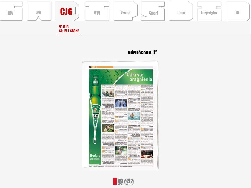 """CJG odwrócone """"L GW WO GTV Praca Sport Dom Turystyka DF GAZETA"""
