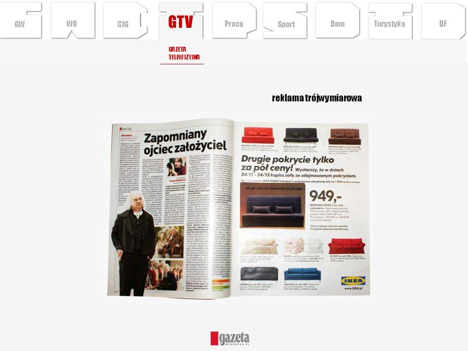 GTV reklama trójwymiarowa GW WO CJG Praca Sport Dom Turystyka DF