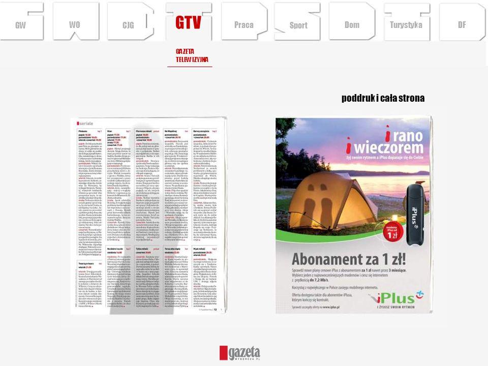 GTV poddruk i cała strona GW WO CJG Praca Sport Dom Turystyka DF