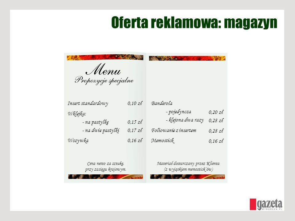 Oferta reklamowa: magazyn