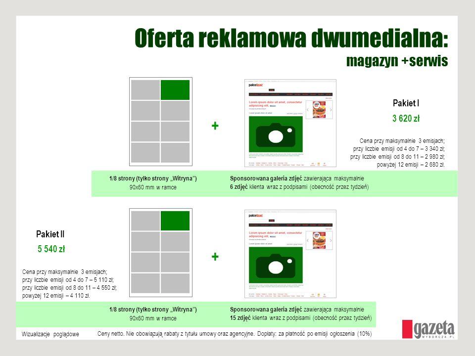 Oferta reklamowa dwumedialna: magazyn +serwis