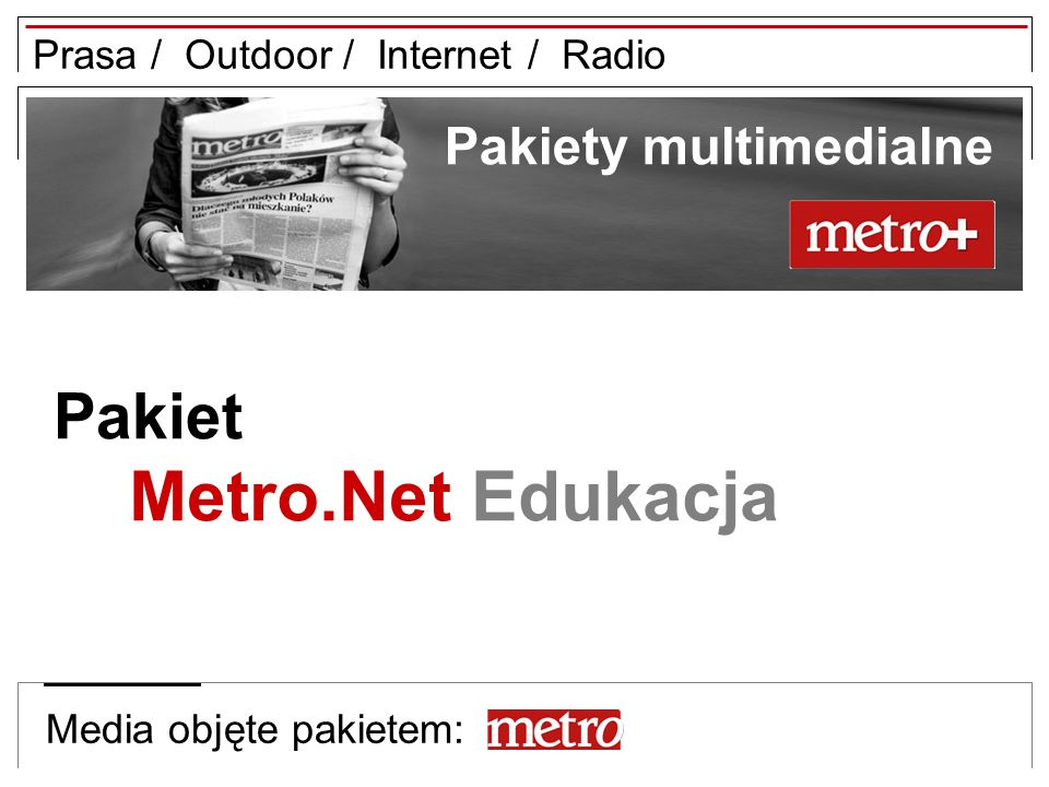 Metro.Net Edukacja Pakiet Pakiety multimedialne