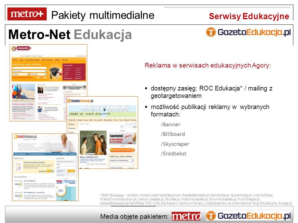 Serwisy Edukacyjne Reklama w serwisach edukacyjnych Agory: