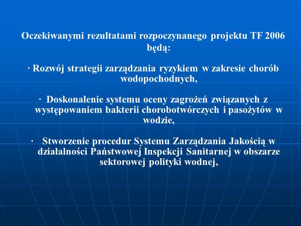 Oczekiwanymi rezultatami rozpoczynanego projektu TF 2006 będą: