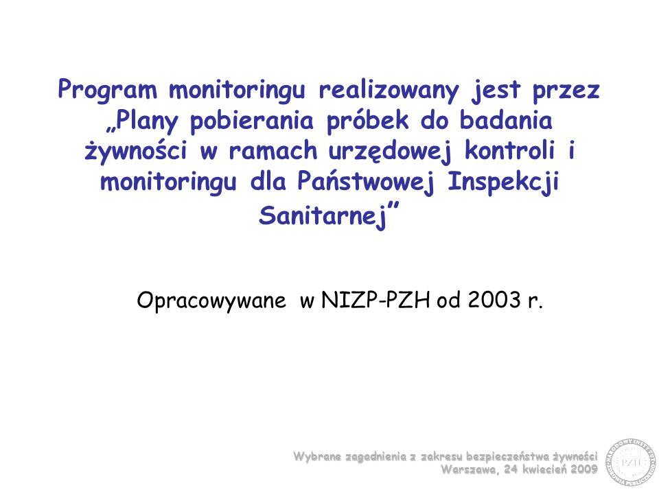 Opracowywane w NIZP-PZH od 2003 r.