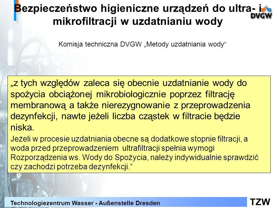 """Komisja techniczna DVGW """"Metody uzdatniania wody"""