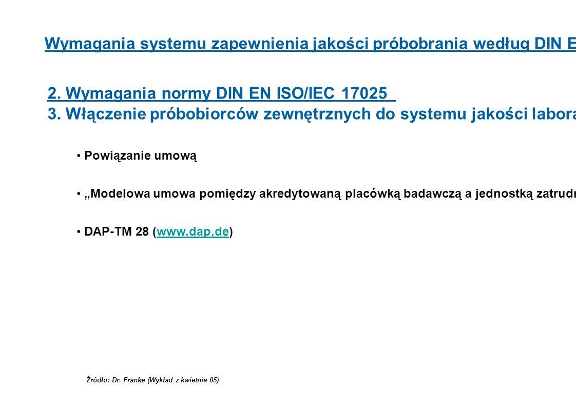 2. Wymagania normy DIN EN ISO/IEC 17025