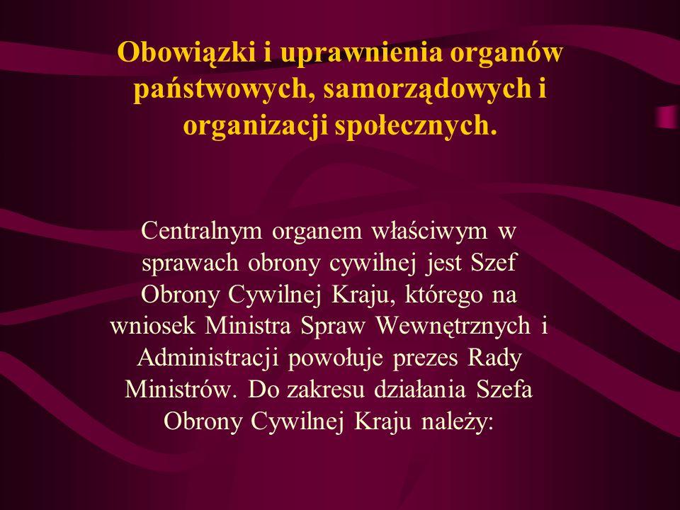 Obowiązki i uprawnienia organów państwowych, samorządowych i organizacji społecznych.