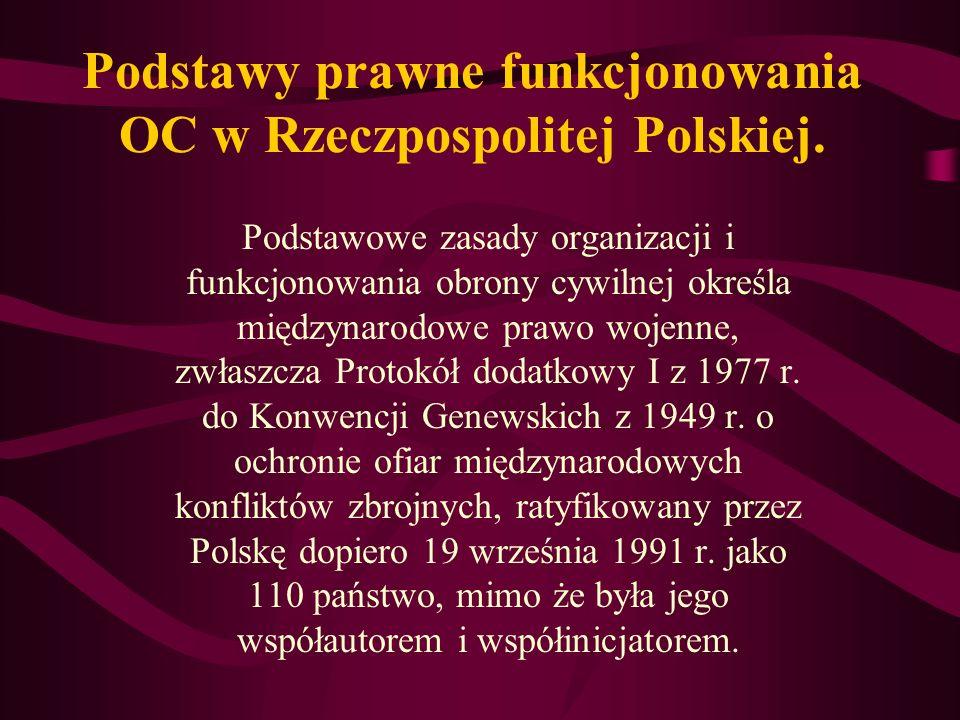 Podstawy prawne funkcjonowania OC w Rzeczpospolitej Polskiej.