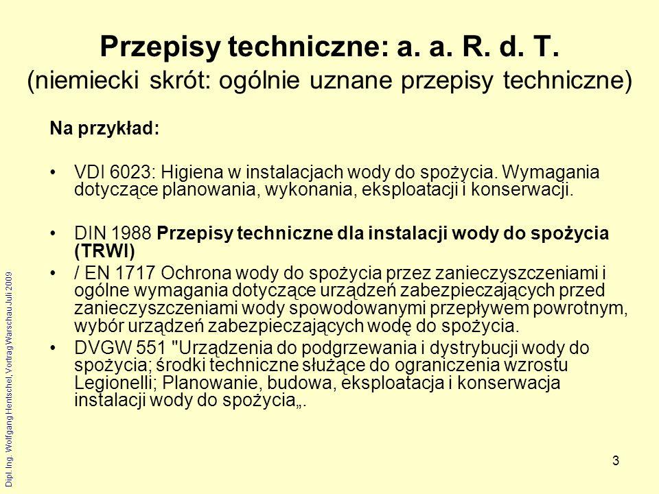 Przepisy techniczne: a. a. R. d. T