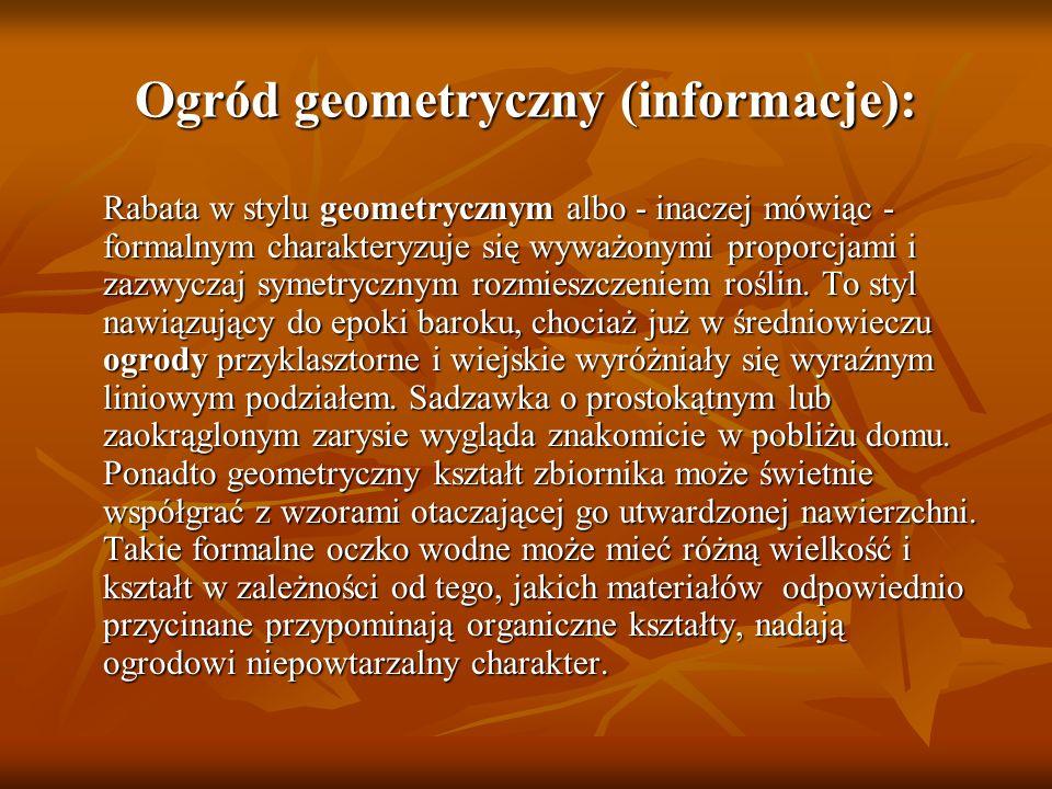 Ogród geometryczny (informacje):