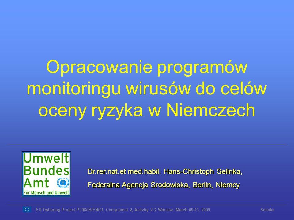 Opracowanie programów monitoringu wirusów do celów oceny ryzyka w Niemczech