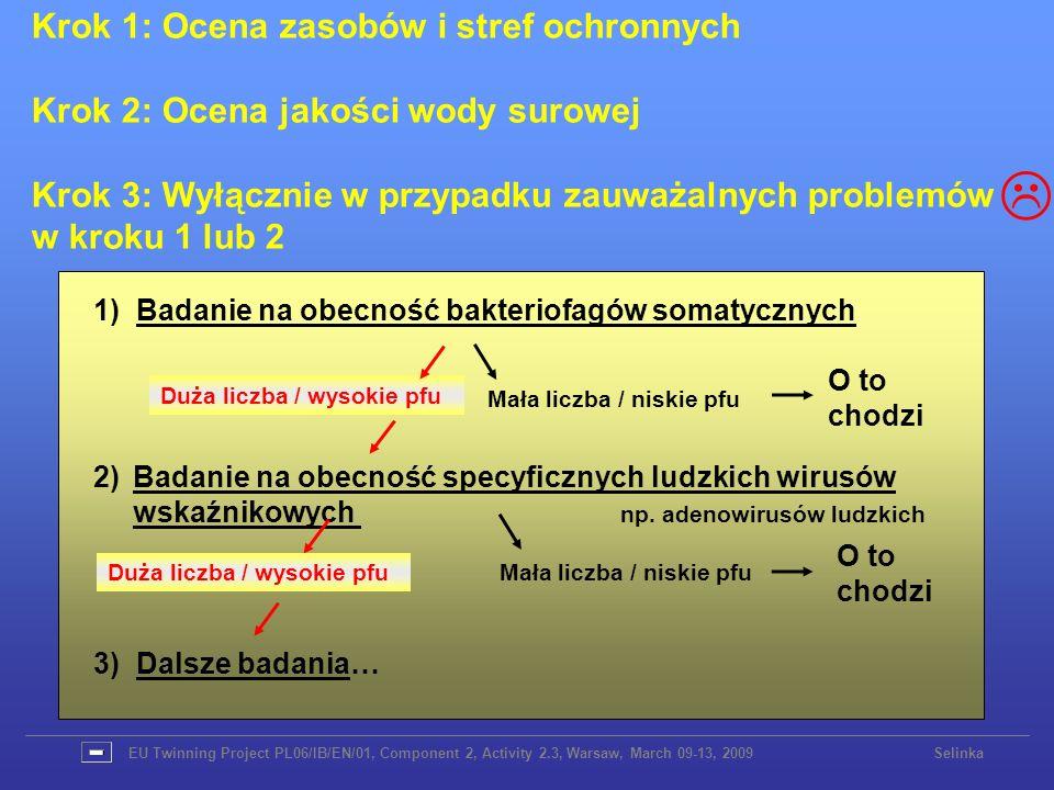 Krok 1: Ocena zasobów i stref ochronnych Krok 2: Ocena jakości wody surowej Krok 3: Wyłącznie w przypadku zauważalnych problemów w kroku 1 lub 2