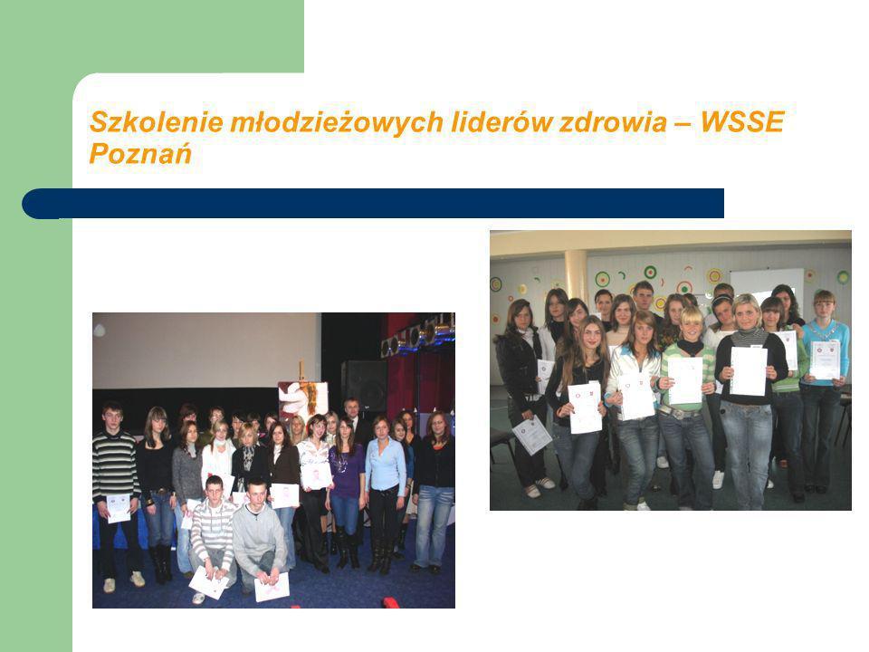 Szkolenie młodzieżowych liderów zdrowia – WSSE Poznań