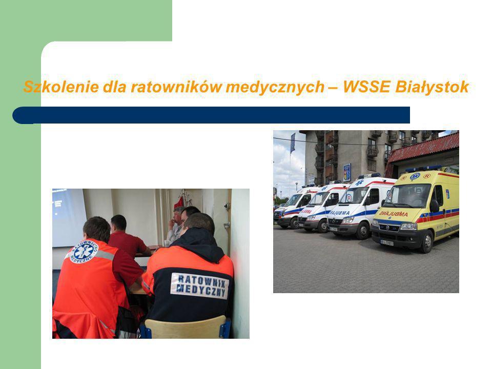 Szkolenie dla ratowników medycznych – WSSE Białystok