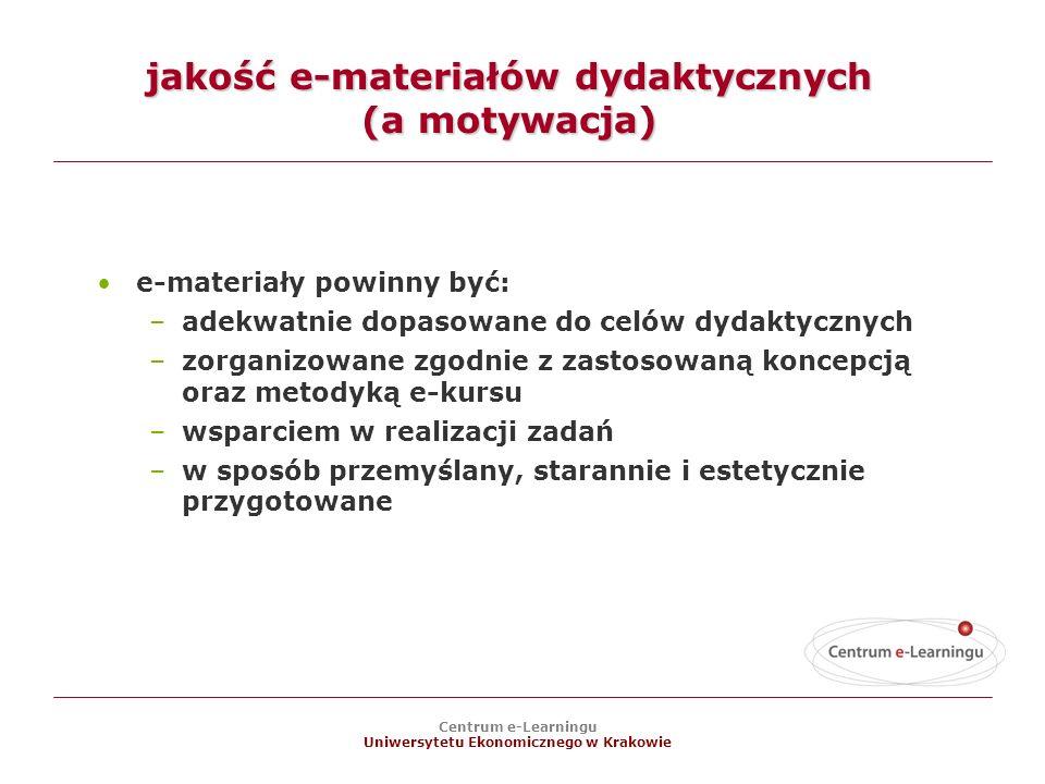 jakość e-materiałów dydaktycznych (a motywacja)
