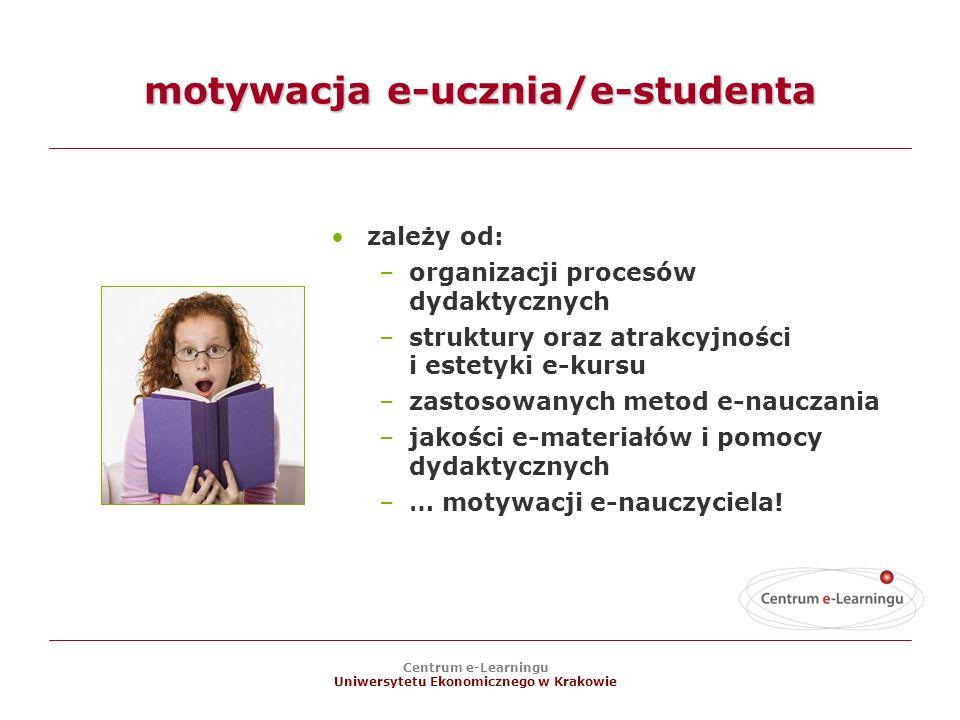 motywacja e-ucznia/e-studenta
