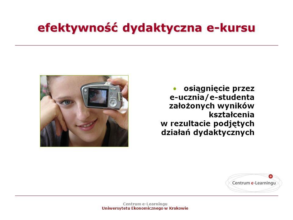 efektywność dydaktyczna e-kursu