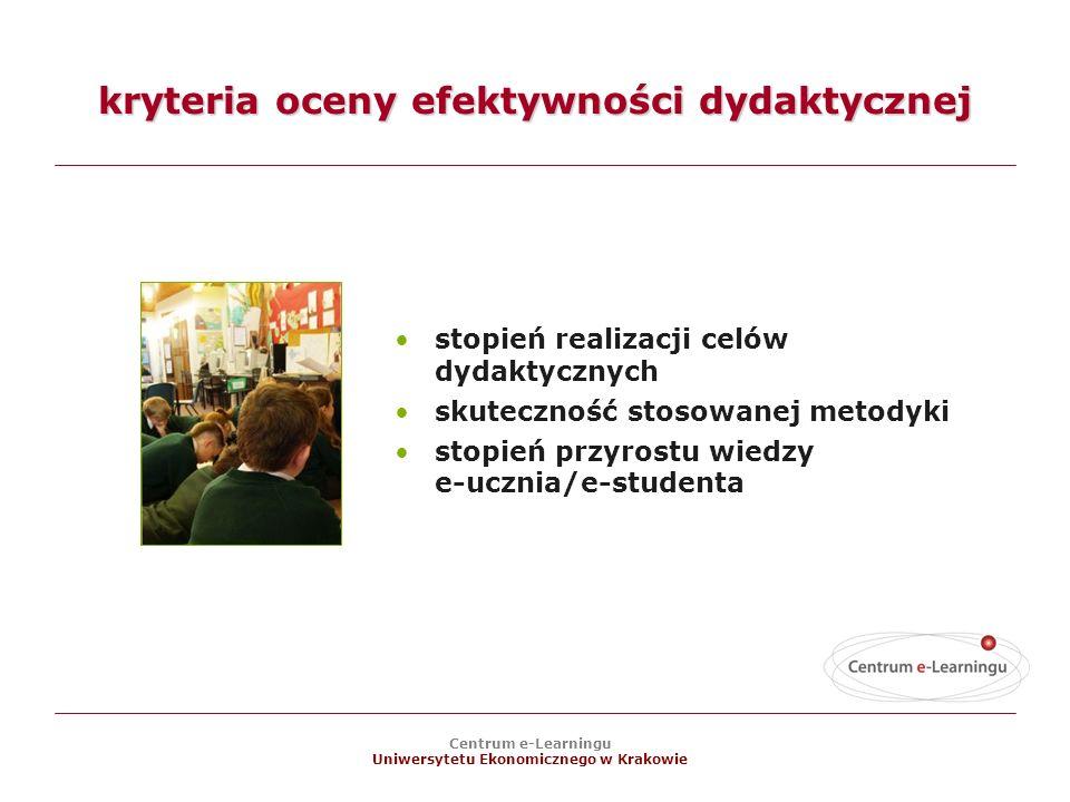 kryteria oceny efektywności dydaktycznej