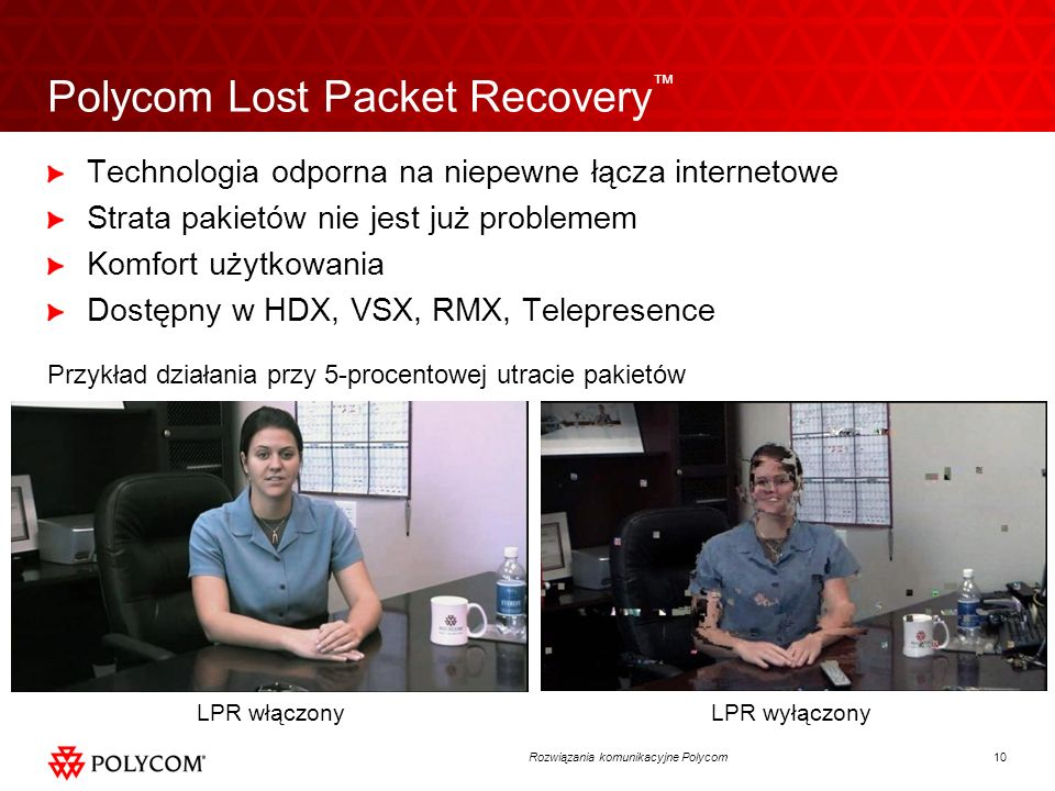 Polycom Lost Packet Recovery™