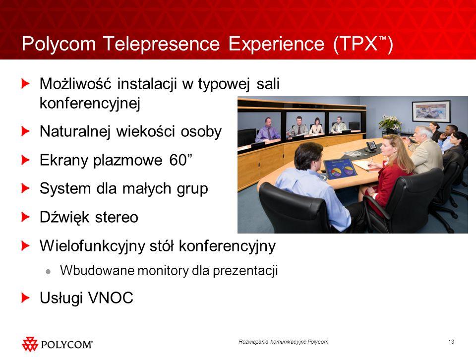 Polycom Telepresence Experience (TPX™)