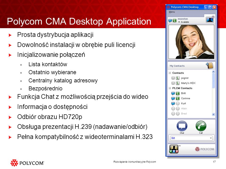 Polycom CMA Desktop Application