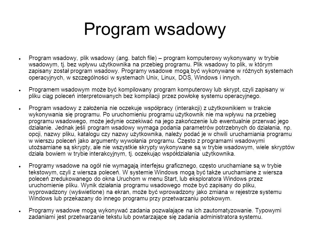 Program wsadowy