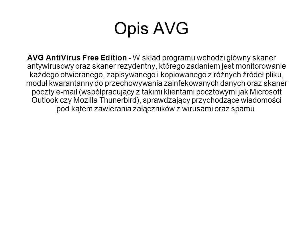 Opis AVG