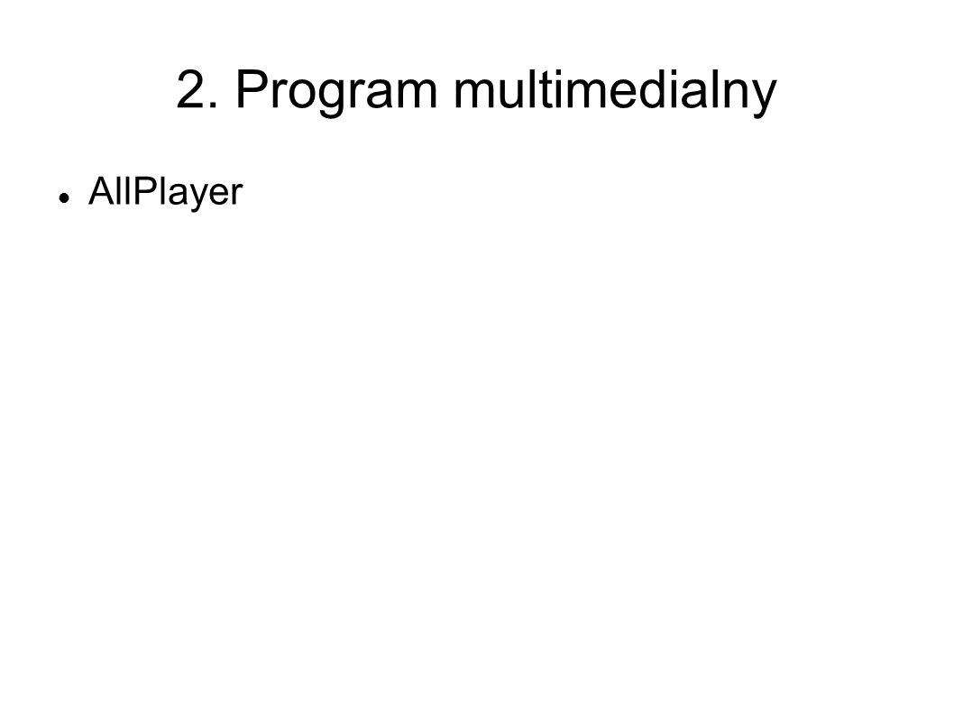 2. Program multimedialny