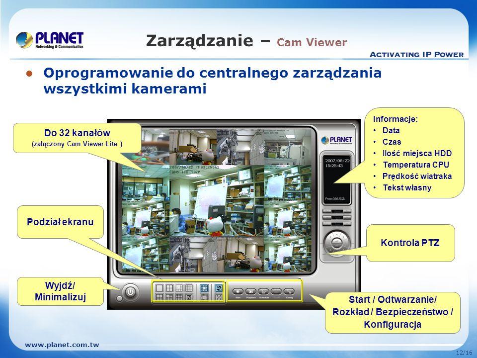 Zarządzanie – Cam Viewer