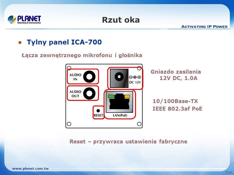 Rzut oka Tylny panel ICA-700 Łącza zewnętrznego mikrofonu i głośnika