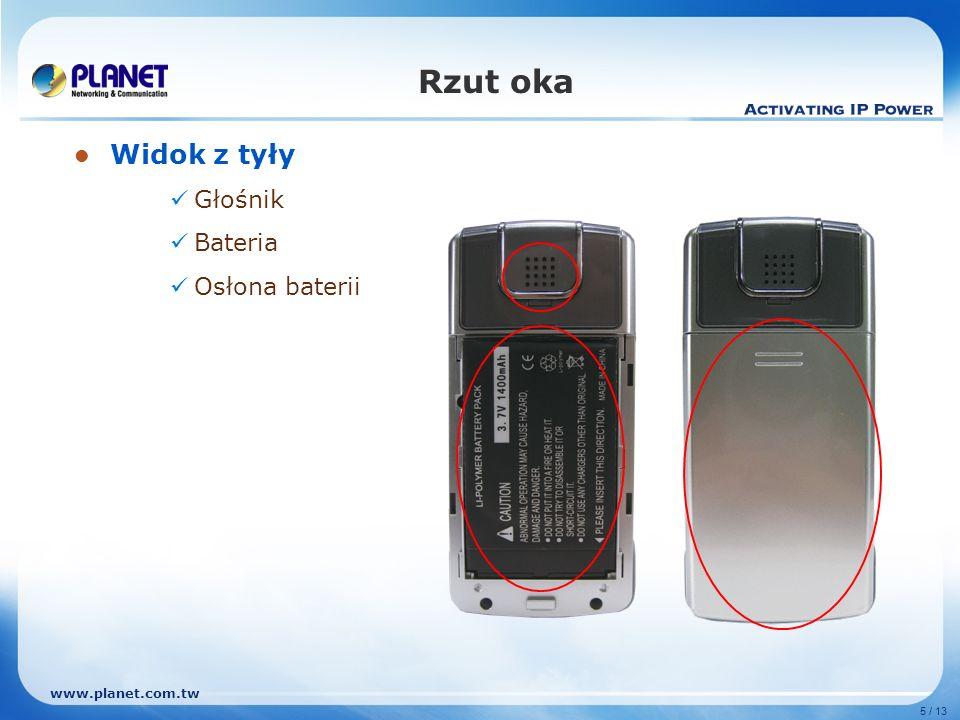 Rzut oka Widok z tyły Głośnik Bateria Osłona baterii