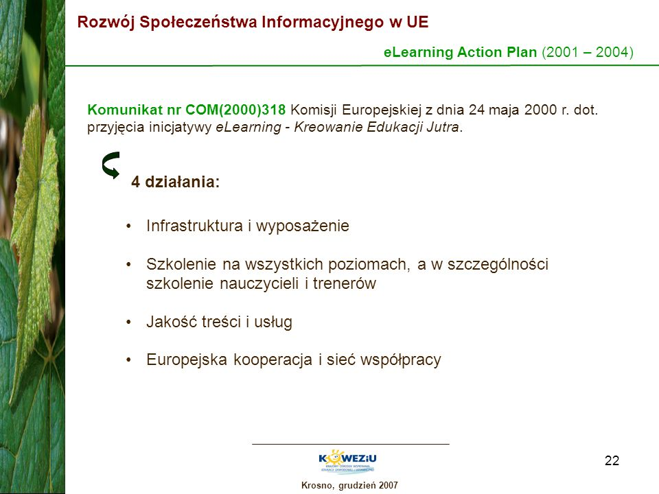eLearning Action Plan (2001 – 2004)