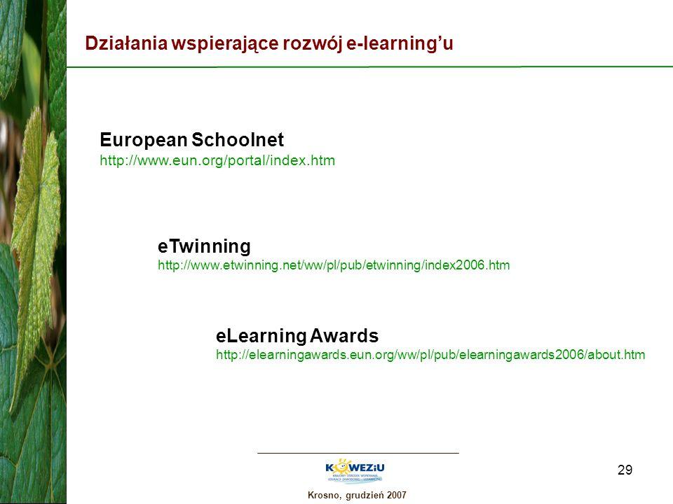 Działania wspierające rozwój e-learning'u