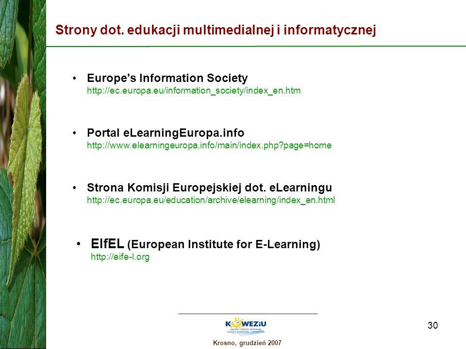 Strony dot. edukacji multimedialnej i informatycznej