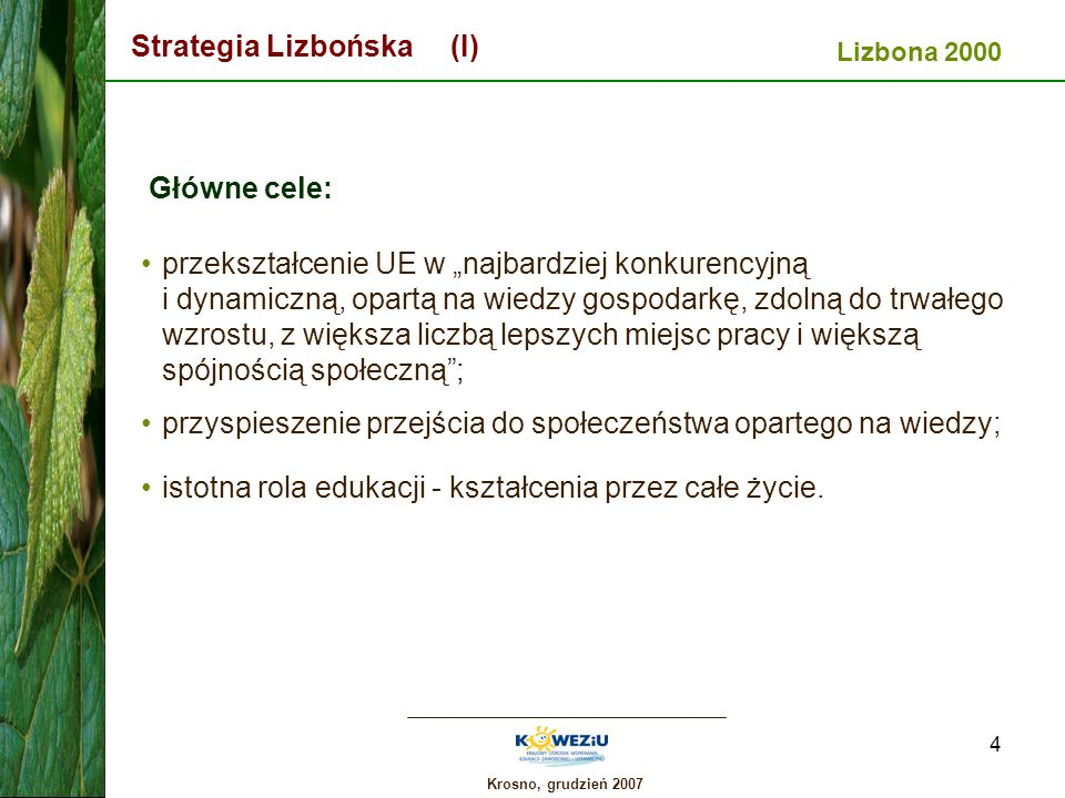 Strategia Lizbońska (I)