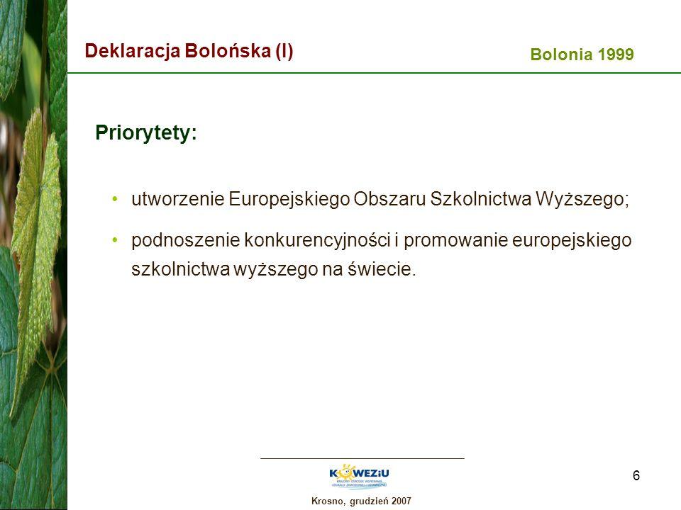 Priorytety: Deklaracja Bolońska (I)