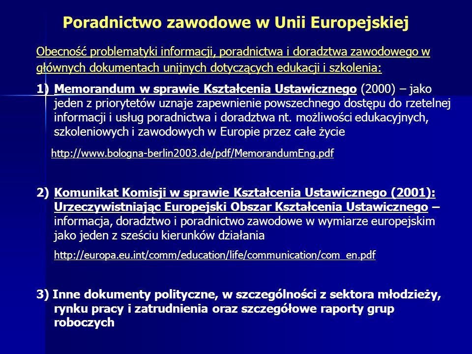 Poradnictwo zawodowe w Unii Europejskiej