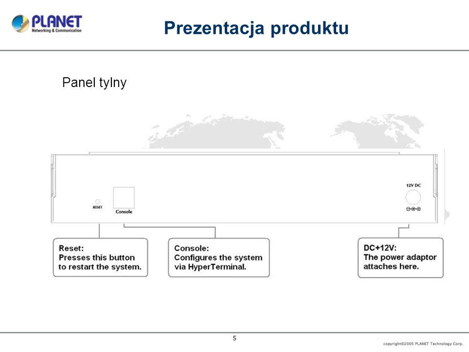 Prezentacja produktu Panel tylny 5