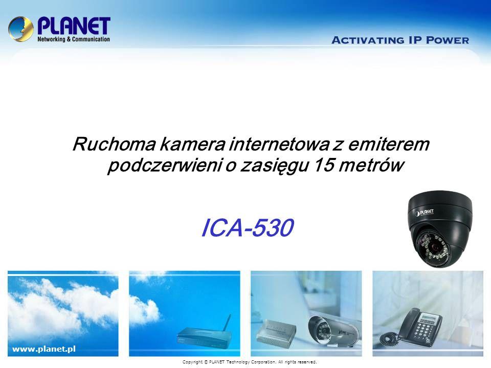 Ruchoma kamera internetowa z emiterem podczerwieni o zasięgu 15 metrów