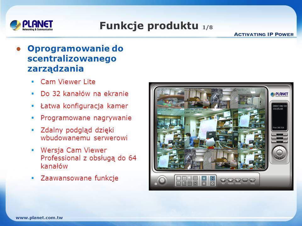 Funkcje produktu 1/8 Oprogramowanie do scentralizowanego zarządzania