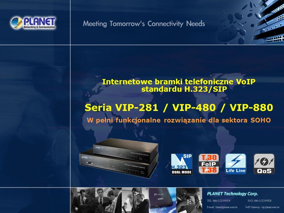 Internetowe bramki telefoniczne VoIP standardu H.323/SIP