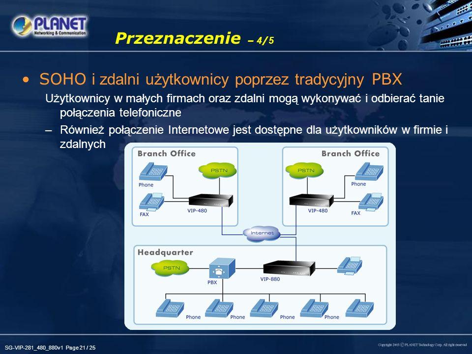 SOHO i zdalni użytkownicy poprzez tradycyjny PBX