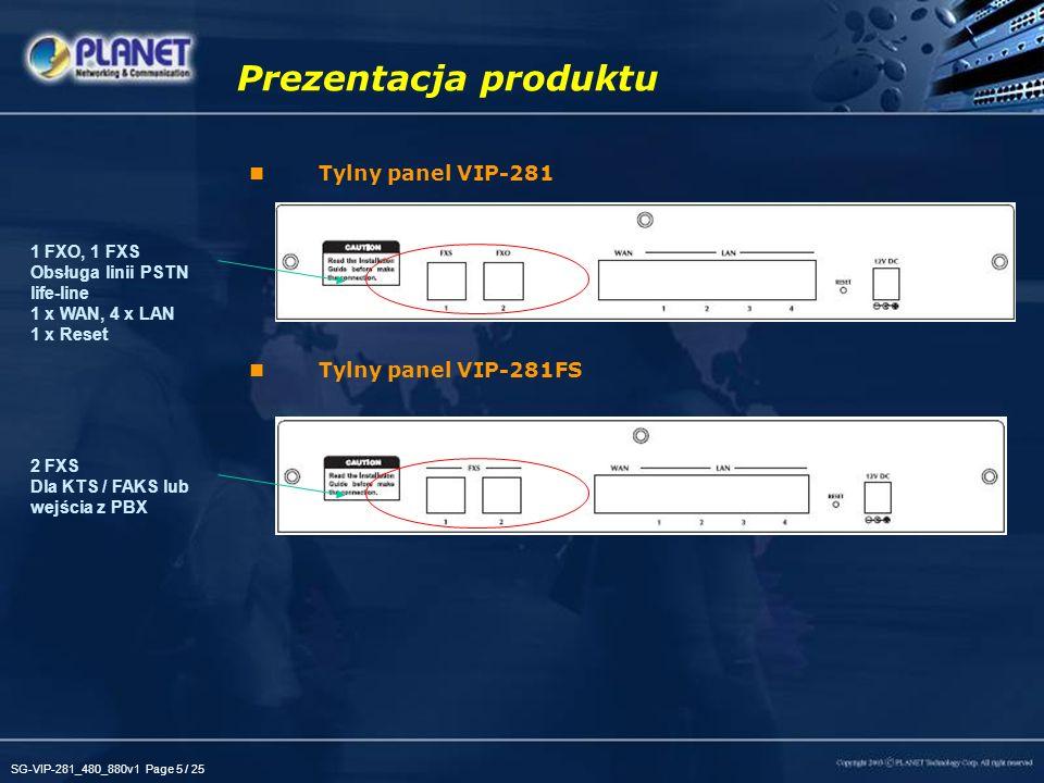 Prezentacja produktu Tylny panel VIP-281 Tylny panel VIP-281FS