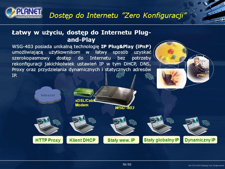 Dostęp do Internetu Zero Konfiguracji