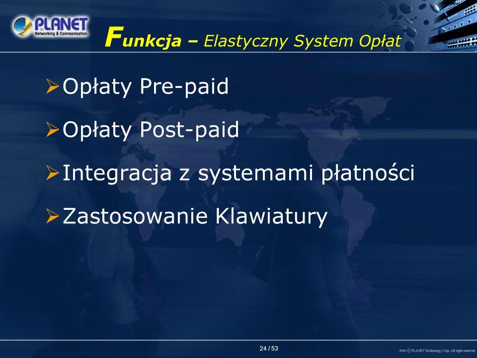 Funkcja – Elastyczny System Opłat