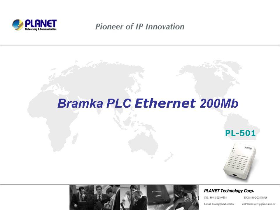 Bramka PLC Ethernet 200Mb PL-501 Page 1 / 8