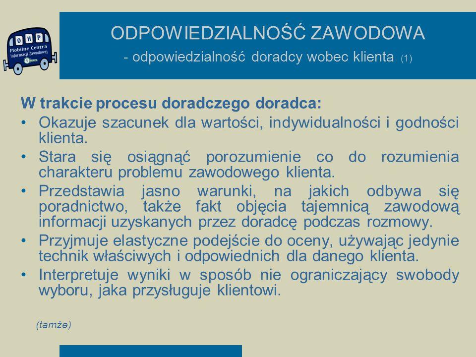 ODPOWIEDZIALNOŚĆ ZAWODOWA - odpowiedzialność doradcy wobec klienta (1)