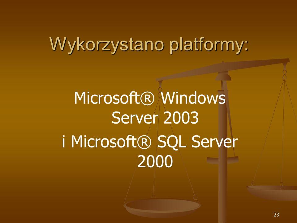 Wykorzystano platformy: