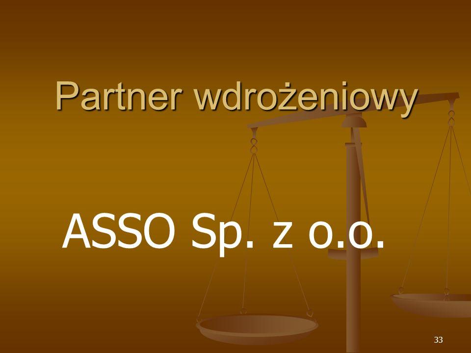Partner wdrożeniowy ASSO Sp. z o.o.